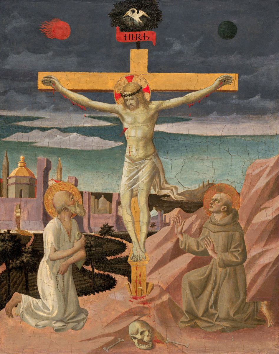 Peselino Italian, ca. 1422–1457 The Crucifixion with Saint Jerome and Saint Francis, ca. 1445/1450 Tempera on poplar panel, 61.44 x 48.9 cm The National Gallery of Art, Samuel H. Kress Collection 1939.1.109