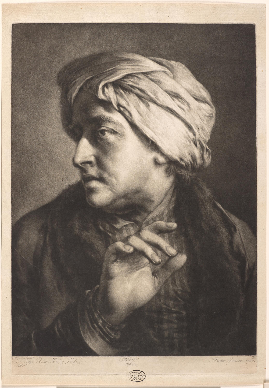 Thomas Frye, Irish, ca. 1710–1762. Man Wearing a Turban. Mezzotint