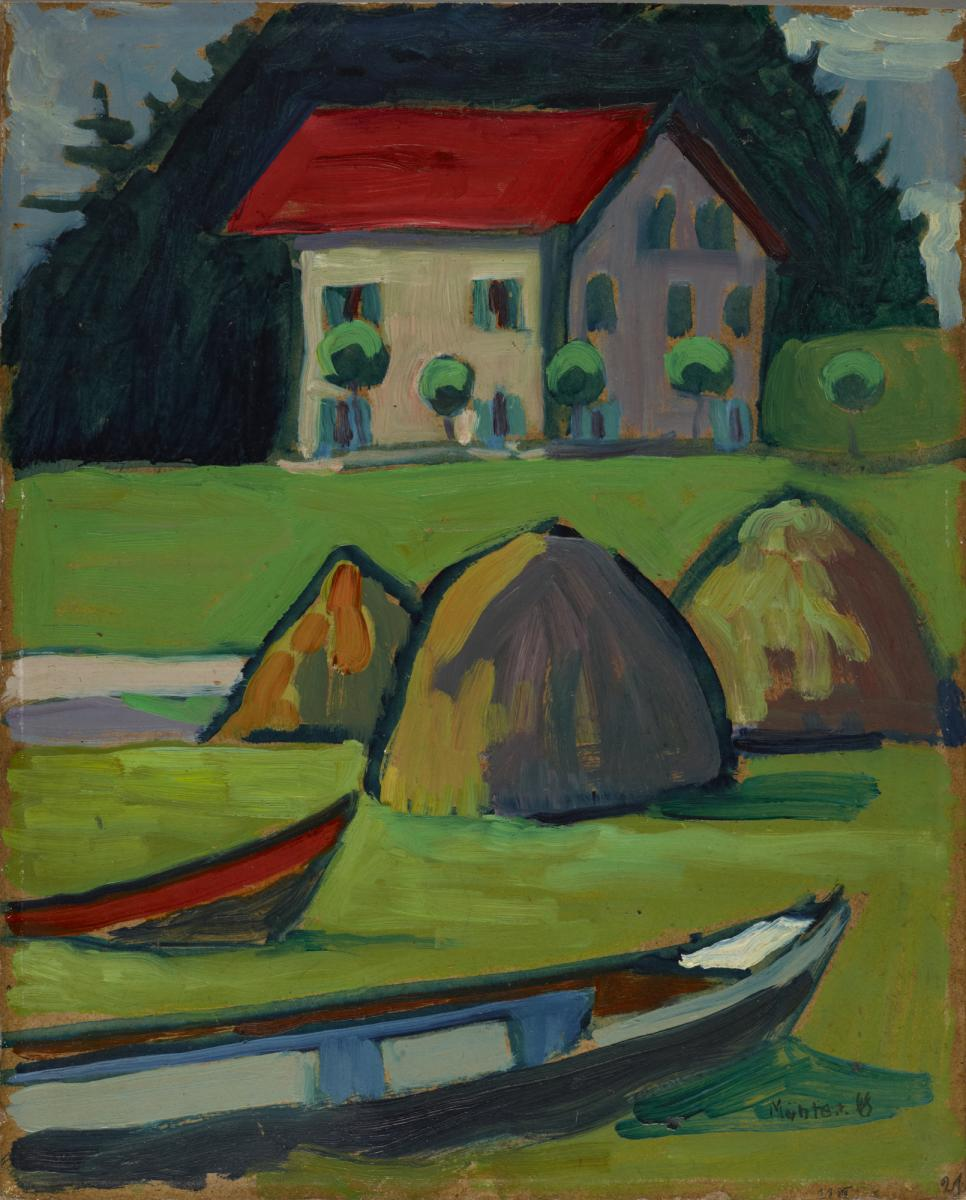 Gabriele Münter, German, 1877–1962: Fisherman's House (Fischerhaus), 1908 (2012-23). © 2012, Artist Rights Society (ARS), New York / VG Bild-Kunst