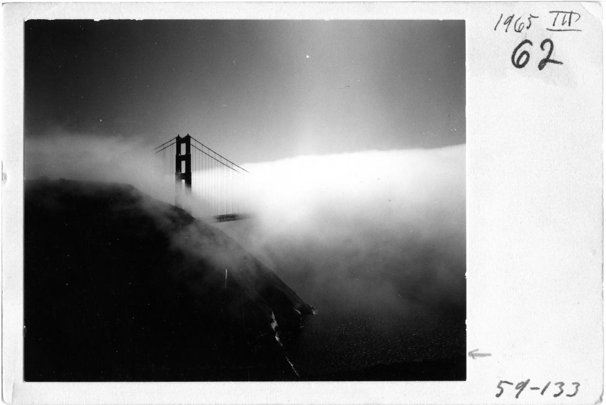 Minor White, American, 1908–1976: Golden Gate Bridge, 1959. The Minor White Archive, Princeton University Art Museum, bequest of Minor White (MWA 59-133). © Trustees of Princeton University