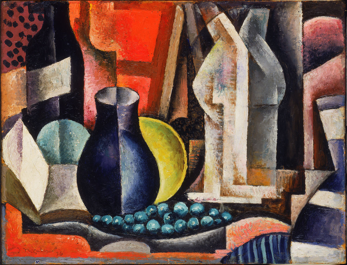 Jean Négulesco, Romanian-American, 1900–1993. Still Life, 1926. Oil on cardboard on wood panel. The Phillips Collection, Washington, DC, Acquired by 1930.