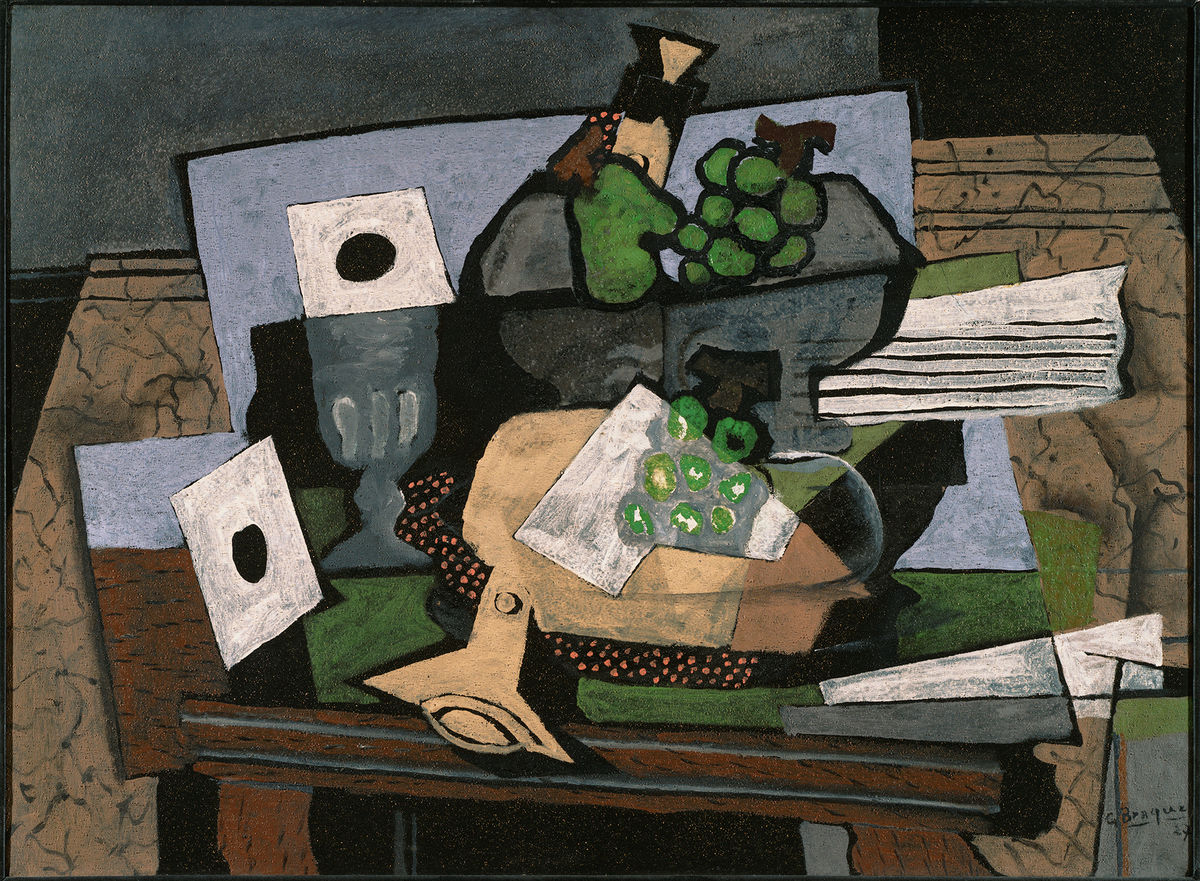 Georges Braque (French, 1882–1963), Still Life with Grapes and Clarinet, 1927. Oil on canvas. The Phillips Collection, Washington, DC. Acquired 1929. © Artists Rights Society (ARS), New York/ADAGP, Paris