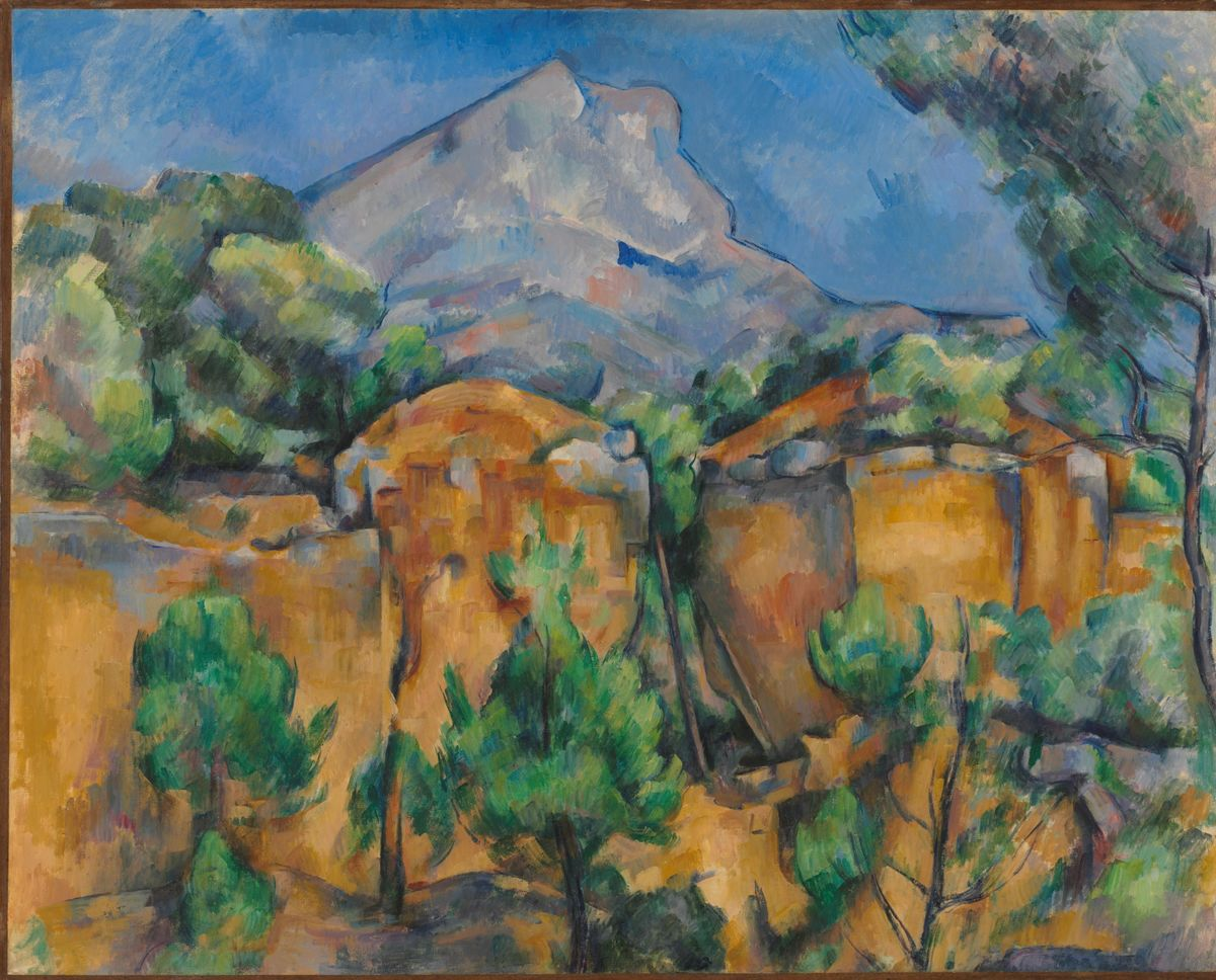 Paul Cézanne (French, 1839–1906), Montagne Sainte-Victoire Seen from Bibémus, 1895–1900. Oil on canvas. The Baltimore Museum of Art. The Cone Collection, formed by Dr. Claribel Cone and Miss Etta Cone of Baltimore, Maryland
