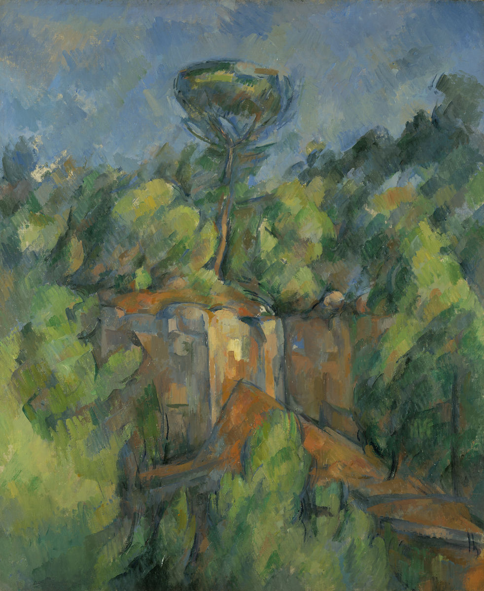Paul Cézanne. Quarry at Bibémus (La Carrière de Bibémus), 1898–1900. Oil on canvas. The Nelson Atkins Museum of Art. Gift of Henry W. and Marion H. Bloch