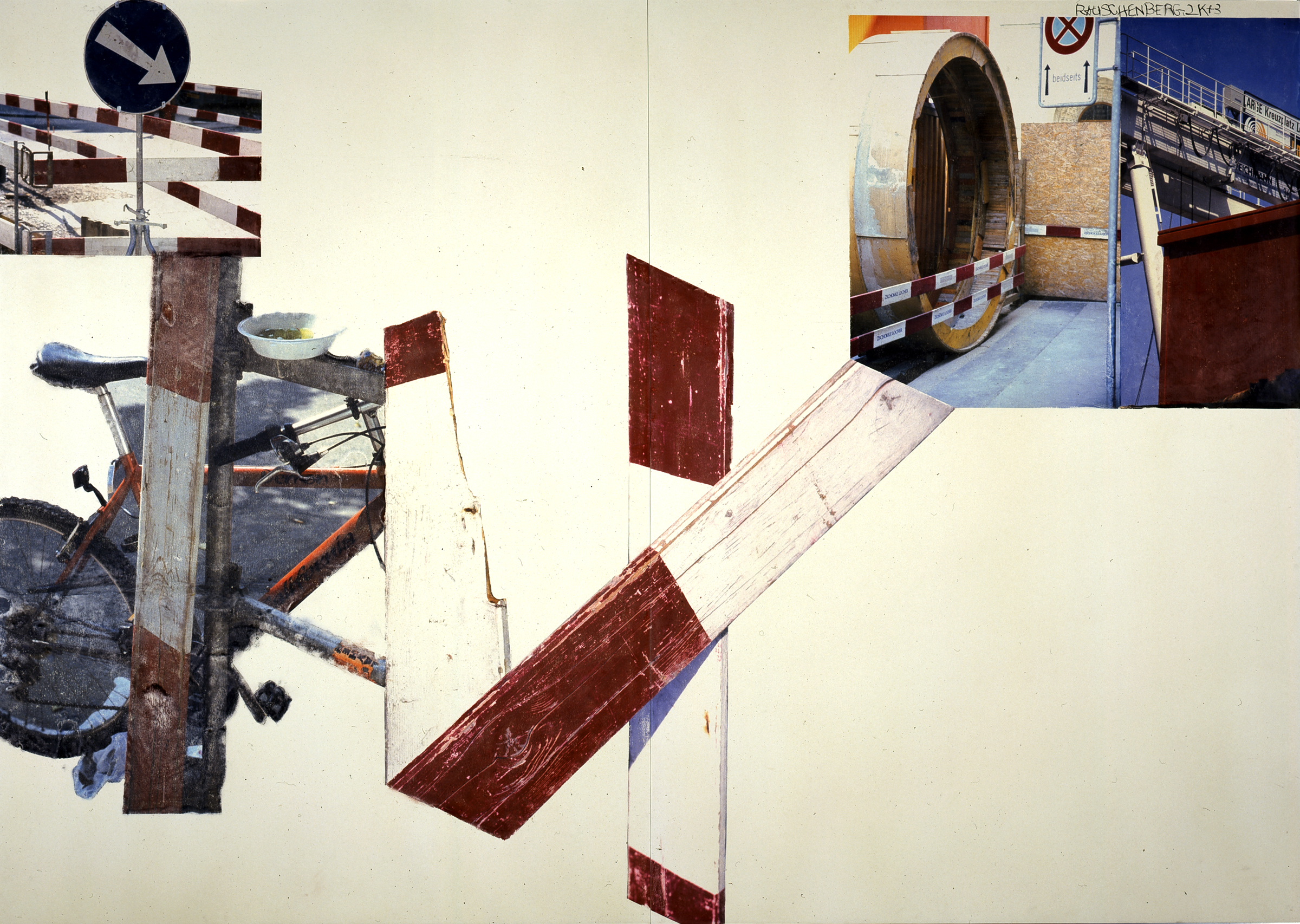 Robert Rauschenberg, Plank (Scenarios), 2003. Robert Rauschenberg Foundation. Art ©Robert Rauschenberg Foundation/Licensed by VAGA, New York, NY