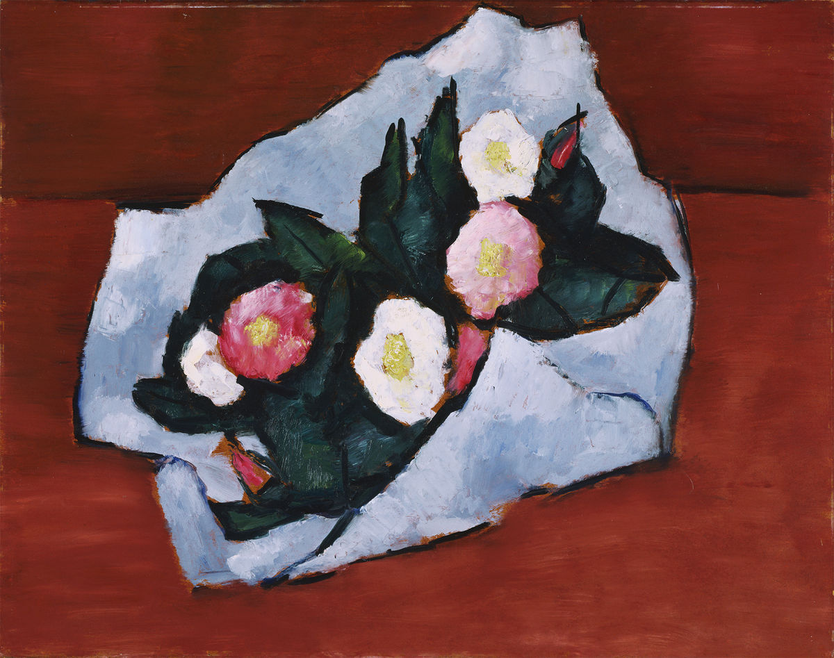 Marsden Hartley (American, 1877–1943), Wild Roses, 1942. Oil on hardboard. The Phillips Collection, Washington, DC. Acquired 1943