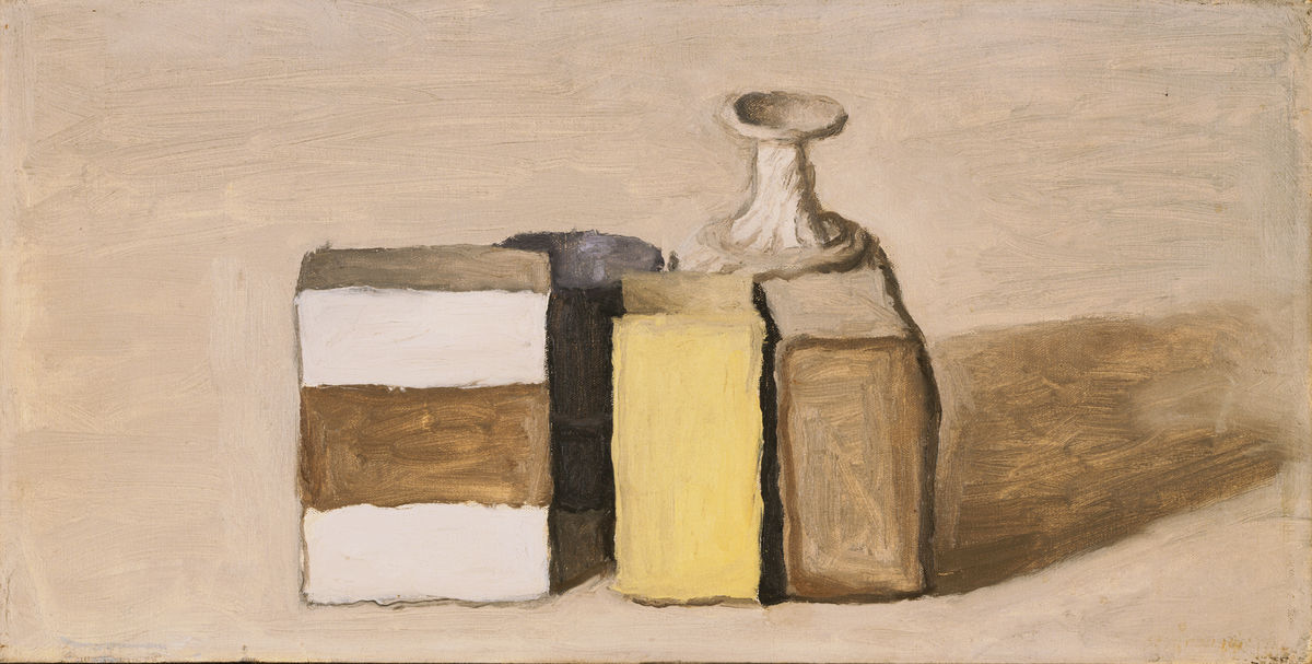 Giorgio Morandi (Italian, 1890–1964), Still Life, 1953. Oil on canvas. The Phillips Collection, Washington, DC. Acquired 1954. © Artists Rights Society (ARS), New York/SIAE, Rome