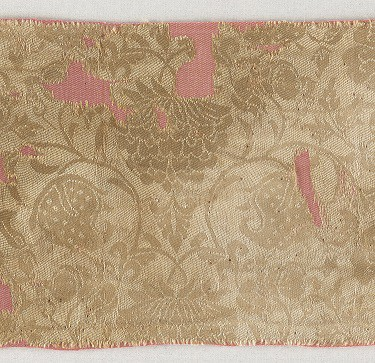 Chinese, Northern Song dynasty, 960–1127, Textile fragment with boys in floral scrolls [Detail]. 11th–12th century. Silk twill damask (ling). The Textile Museum, Washington, D.C. Acquired by George Hewitt Myers in 1934 (3.215).