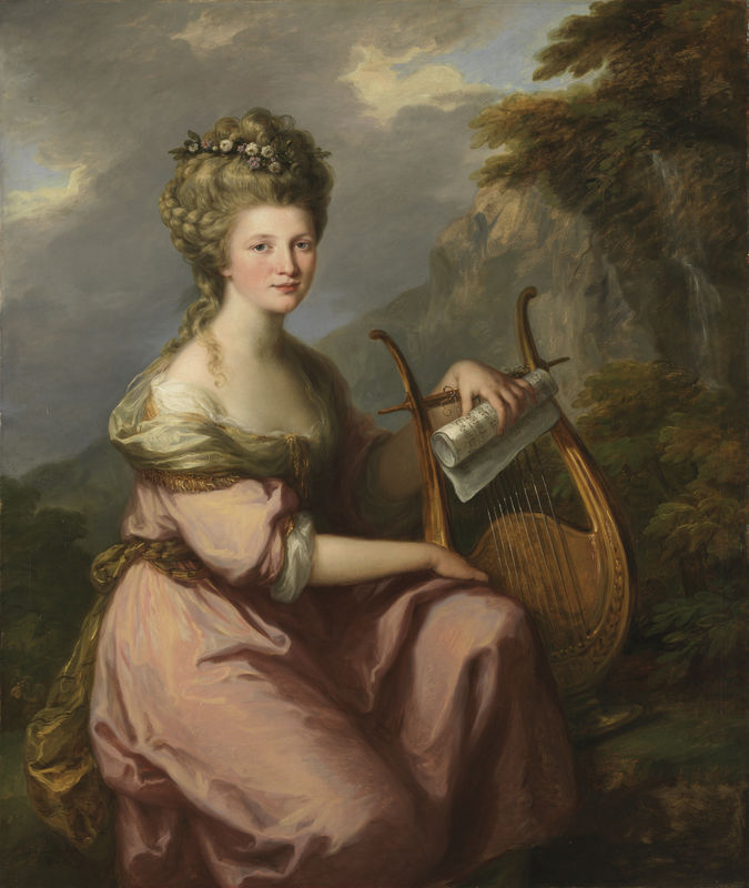 Angelica Kauffmann, British, born in Switzerland, 1741–1807, Portrait of Sarah Harrop (Mrs. Bates) as a Muse, 1780–81. Oil on canvas. Museum purchase, Surdna Fund and Fowler McCormick, Class of 1921, Fund