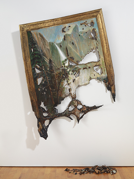 Valerie Hegarty, American, born 1967, Fallen Bierstadt, 2007. Foamcore, paint, paper, glue, gel medium, canvas, wire, wood. Brooklyn Museum, Gift of Campari, USA 2008.9a-b. © Valerie Hegarty. Courtesy of the artist and Guild & Greyshkul, NY. Photo: Brooklyn Museum