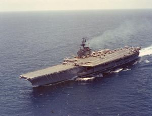 USS Forrestal, the country's first super carrier named after James V. Forrestal
