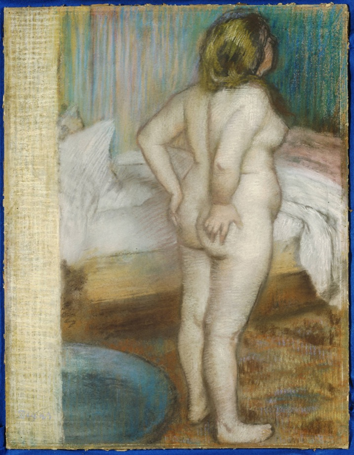 Edgar Degas, French, 1834–1917. <em>The Morning Bath</em>, ca. 1886. Pastel on buff wove paper, 67 x 52.1 cm. The Henry and Rose Pearlman Collection
