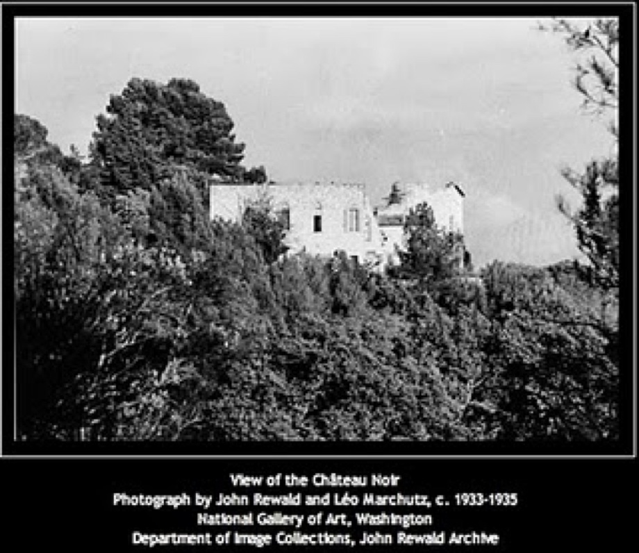 View of the Chateau Noir, John Rewald and Leo Marchutz. Archives of the National Gallery of Art, Washington D.C.