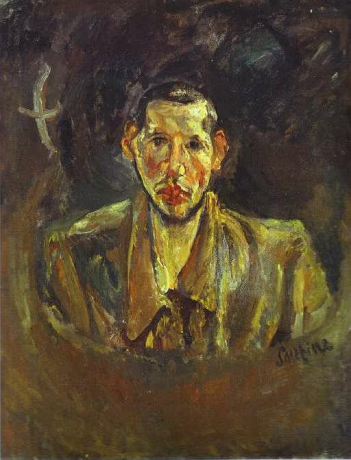 Chaïm Soutine, Russian, active in France, 1893–1943. <em>Self Portrait with Beard</em>,  ca.1917. Oil on canvas. Private Collection / © 2014 Artists Rights Society (ARS), New York / ADAGP, Paris