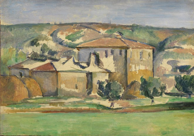 Paul Cézanne (French, 1839–1906), Provençal Manor, ca. 1885. Oil on canvas, 33 x 48.3 cm. The Henry and Rose Pearlman Foundation, on long-term loan to the Princeton University Art Museum