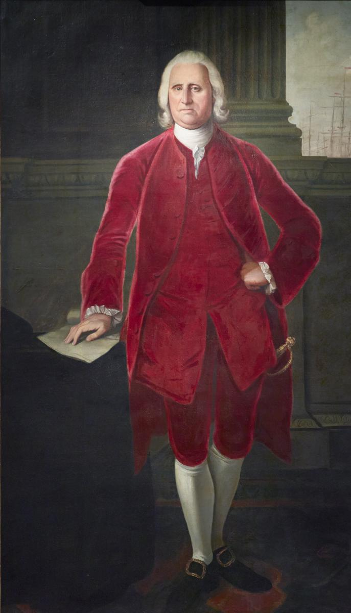 Matthew Pratt, American, 1734–1805: Cadwallader Colden, 1772. Oil on canvas, 196.2 x 118.7 cm. New York State Museum, Albany.