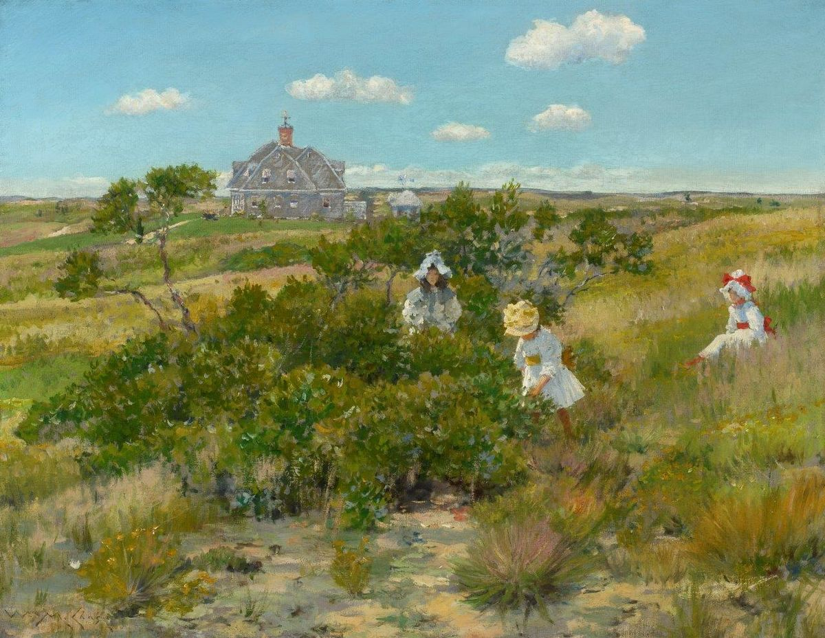 William Merritt Chase, The Big Bayberry Bush (The Bayberry Bush) (detail), ca. 1895. Parrish Art Museum, Water Mill, N.Y., Littlejohn Collection.