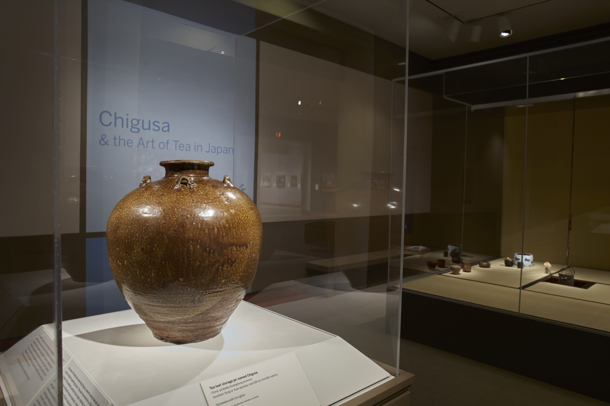 China, Southern Song or Yuan dynasty, probably Guangdong Province, Tea-leaf storage jar named Chigusa, mid-13th to mid-14th century. Stoneware with iron glaze, h. 41.6 cm. Freer Gallery of Art, Smithsonian Institution, Washington, D.C., purchase
