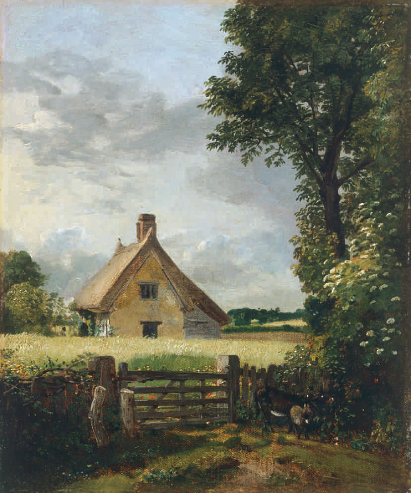 John Constable (British, 1776–1837), A Cottage in a Cornfield, 1817. Oil on canvas, 31.5 x 26.3 cm. National Museum Wales (NMW A 486). Courtesy American Federation of Arts