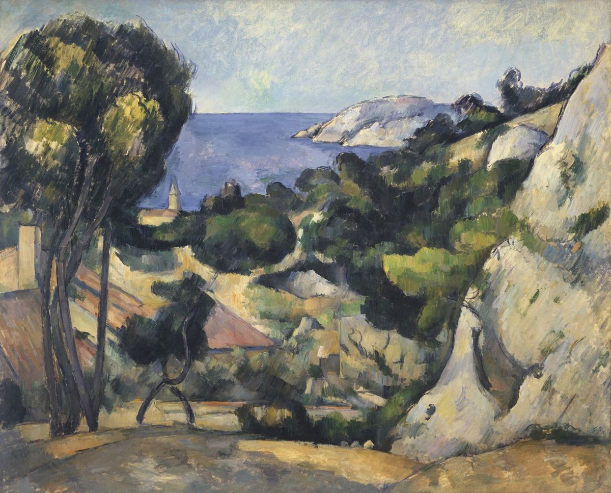 Paul Cezanne, French, 1839–1906, L'Estaque, 1879–83. Oil on canvas. [The Museum of Modern Art. The William S. Paley Collection ].