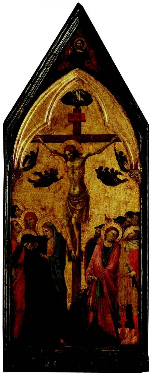 Jacopo del Casentino (Italian, 1279–1358), Crucifixion. Tempera on wood panel, 91.5 × 45 cm. Museum purchase, Fowler McCormick, Class of 1921, Fund and gift of G. Allan Forsyth, Class of 1953, and Blaikie F. Worth (2013-116). Photo: Bruce M. White
