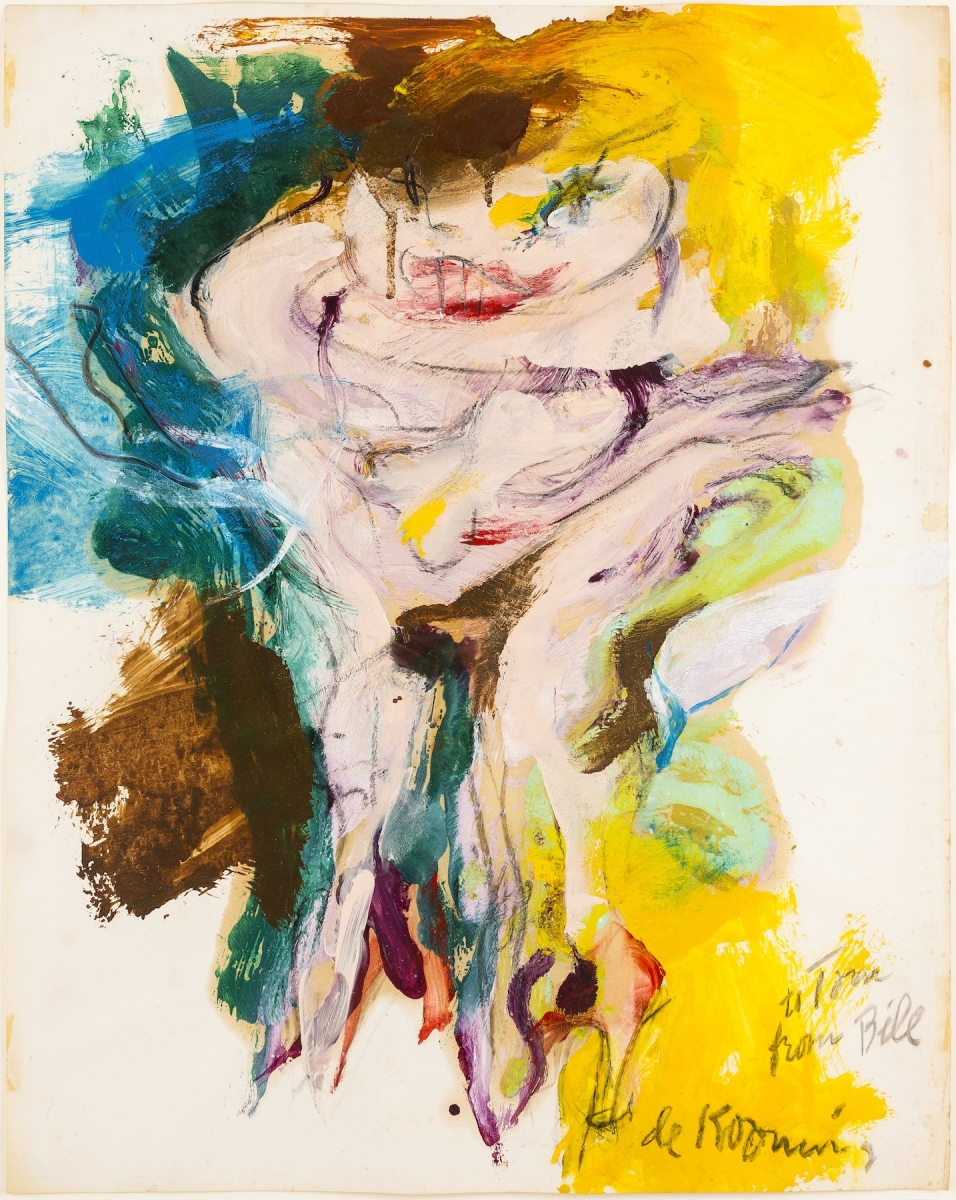 Willem de Kooning (American, born The Netherlands, 1904–1997), Untitled (Woman), 1965. Oil and charcoal on paper, 73.7 x 58.4 cm. Collection of Preston H. Haskell, Class of 1960. © 2014 The Willem de Kooning Foundation / Artists Rights Society (ARS), New York / photo: Douglas J. Eng