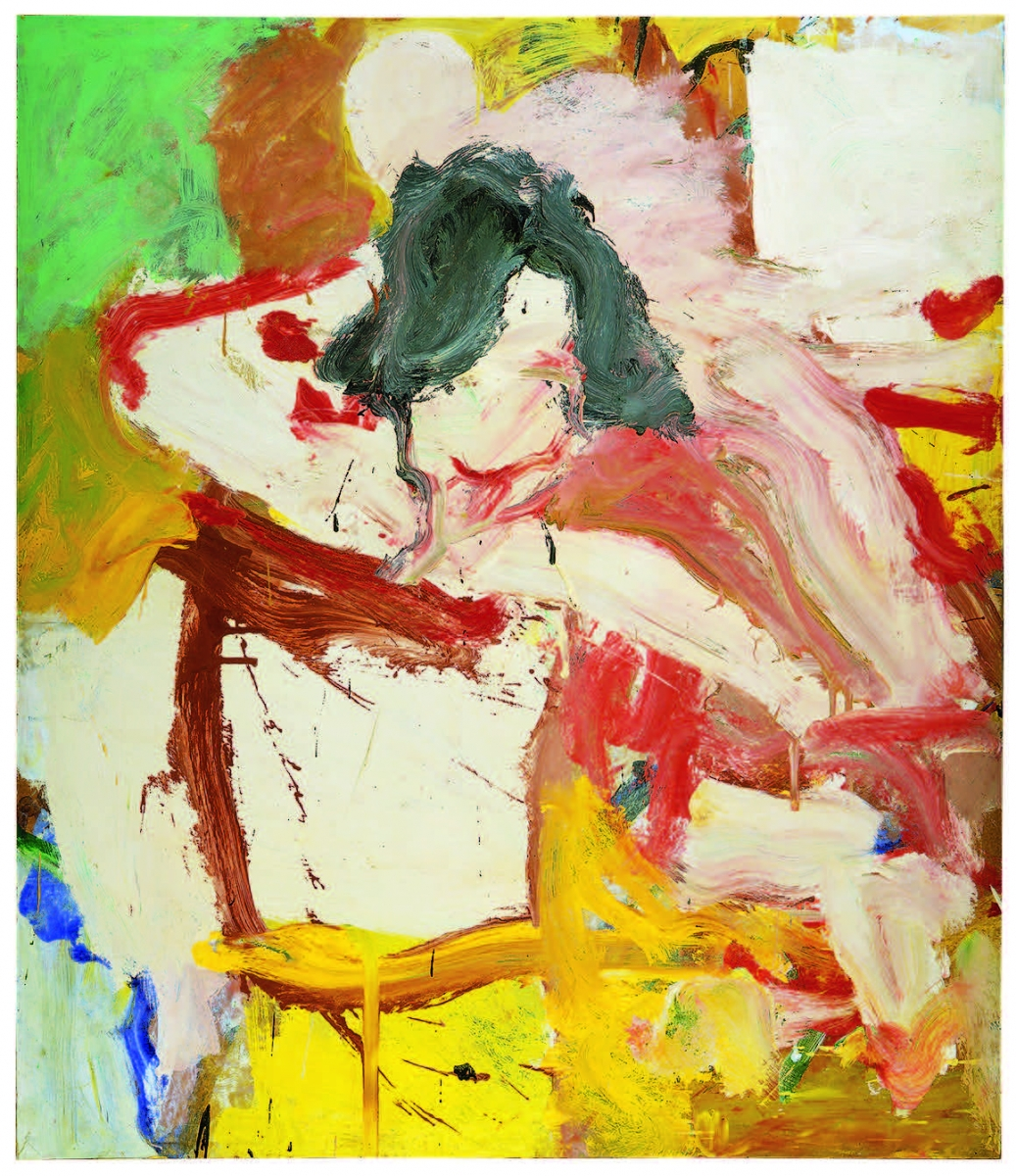 Willem de Kooning (American, born The Netherlands, 1904–1997), Woman, 1968. Oil on paper on canvas, 142.2 x 121.9 cm. Collection The Willem de Kooning Foundation. © 2016 The Willem de Kooning Foundation / Artists Rights Society, NY