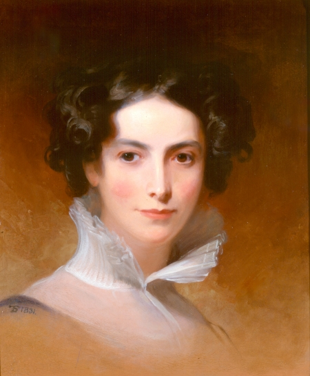 Thomas Sully (American, born England, 1783–1872), Rebecca Gratz (1781–1869), 1831. Oil on panel, 50.8 x 43.2 cm. Collection of the Rosenbach of the Free Library of Philadelphia.  Philadelphia philanthropist and educator Rebecca Gratz was the best-known Jewish woman of her day. She established several communal and welfare organizations as well as a Hebrew Sunday school. The need for such groups reveals a significant change in Jewish life: with the declining power of the synagogue to control all dimensions of Jewish life, new institutions were needed to fill communal needs. This shift coincided with an emerging understanding that philanthropic activity was an appropriate public undertaking for respectable women.