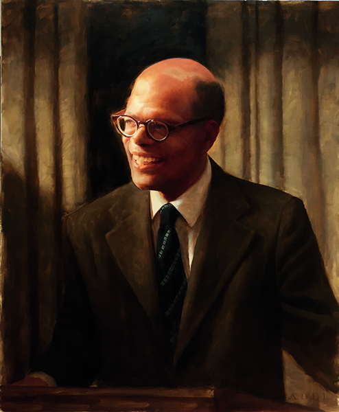 Daniel Adel (American, born 1962), after a photograph by Robert Matthews, Sir W. Arthur Lewis (1915–1991), 2017. Oil on canvas, framed: 78.7 × 66 cm. Princeton University