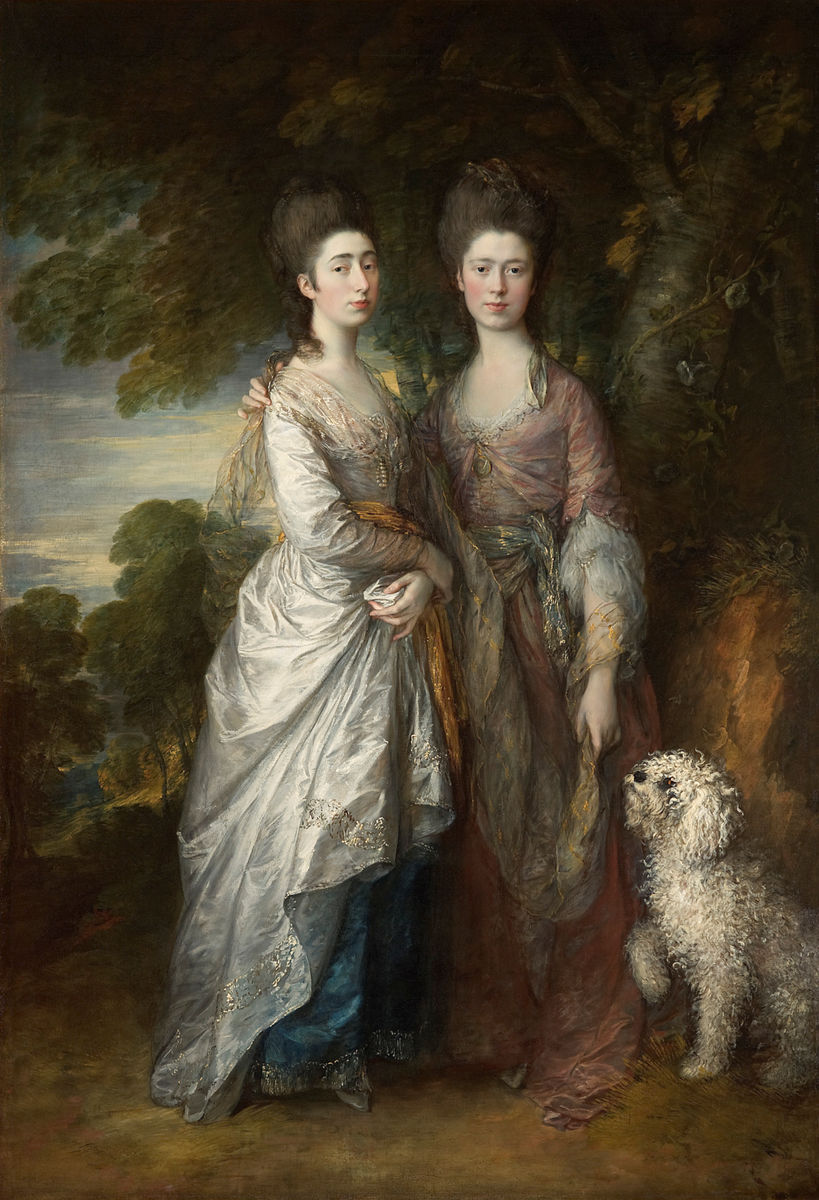 Thomas Gainsborough, English, 1727–1788, Mary and Margaret Gainsborough, the Artist's Daughters, ca. 1774. Oil on canvas. Private collection.