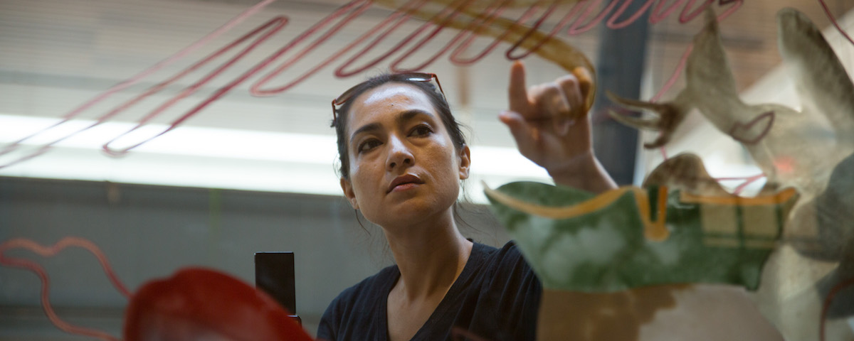 Watch Drawing in Glass: Shahzia Sikander at Princeton University