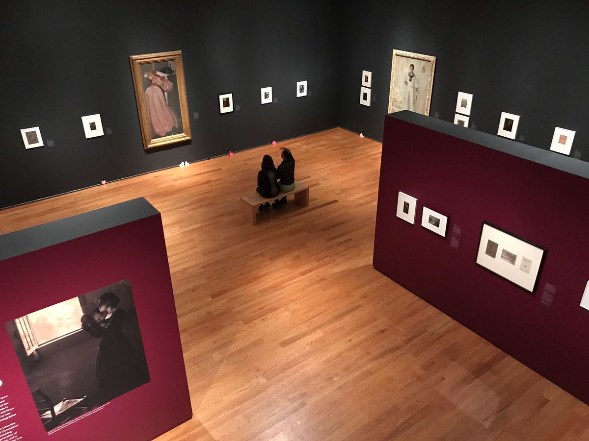 Installation of the special exhibition Clarence H. White and His World: The Art and Craft of Photography, 1895–1925, at the Davis Museum at Wellesley College (February 13–June 3, 2018). Image courtesy of James Steward.