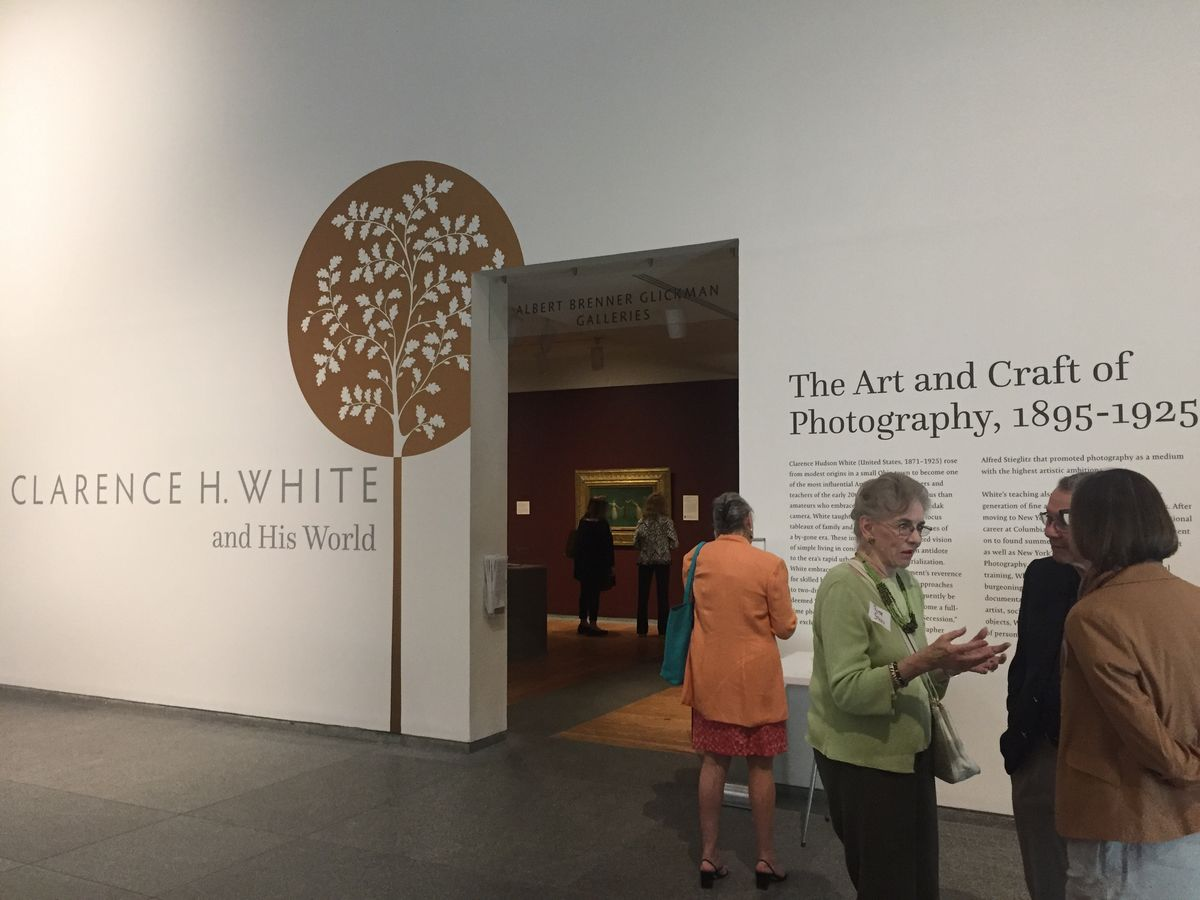 The opening of the exhibition Clarence H. White and His World at the Portland Museum of Art