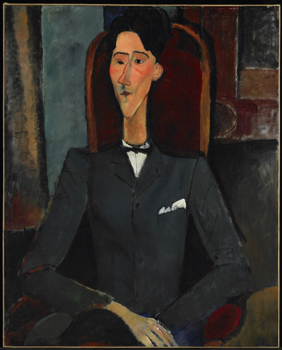 Amedeo Modigliani (Italian, 1884–1920), Jean Cocteau, 1916. Oil on canvas, 100.4 x 81.3 cm. The Henry and Rose Pearlman Foundation, on long-term loan to the Princeton University Art Museum / photo: Bruce M. White