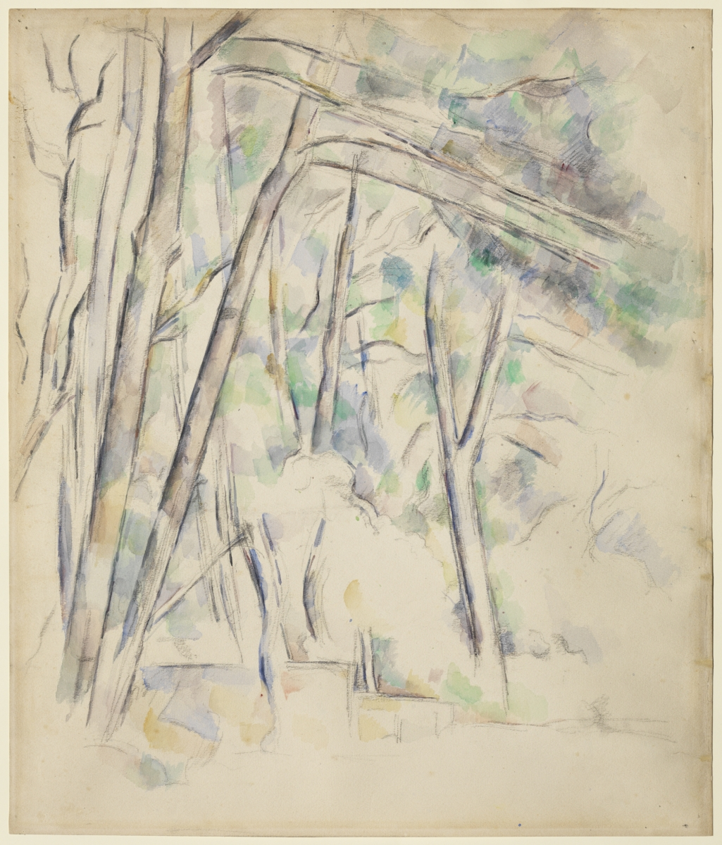 Paul Cézanne (French 1839–1906), Cistern in the Park of Ch.teau Noir, 1895–1900. Watercolor and graphite on pale buff wove paper, 50.6 x 43.4 cm. The Henry and Rose Pearlman Foundation, on long-term loan to the Princeton University Art Museum / photo: Bruce M. White
