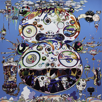 Takashi Murakami (Japanese, born 1962), Tan Tan Bo – In Communication, 2014. Acrylic on canvas, 360 x 360 cm. Collection of Mitchell and Joleen Julis. © 2014 Takashi Murakami / Kaikai Kiki Co., Ltd. All Rights Reserved
