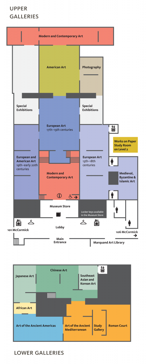 museum floor plans and gallery map princeton university