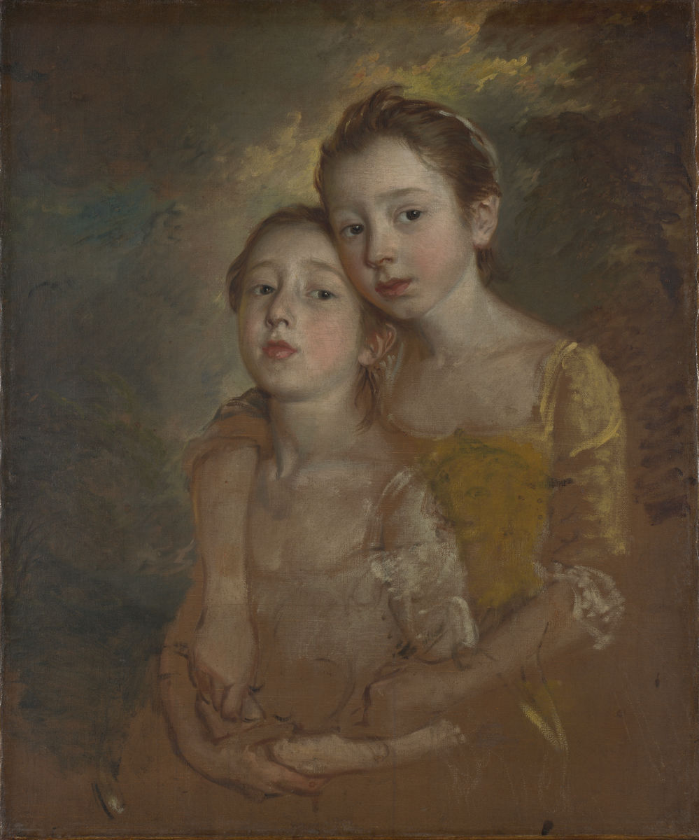 Thomas Gainsborough, English, 1727–1788, Mary and Margaret Gainsborough, the Artist's Daughters, Playing with a Cat, ca. 1760–61. Oil on canvas. The National Gallery, London. Bought, 1923. © The National Gallery, London.