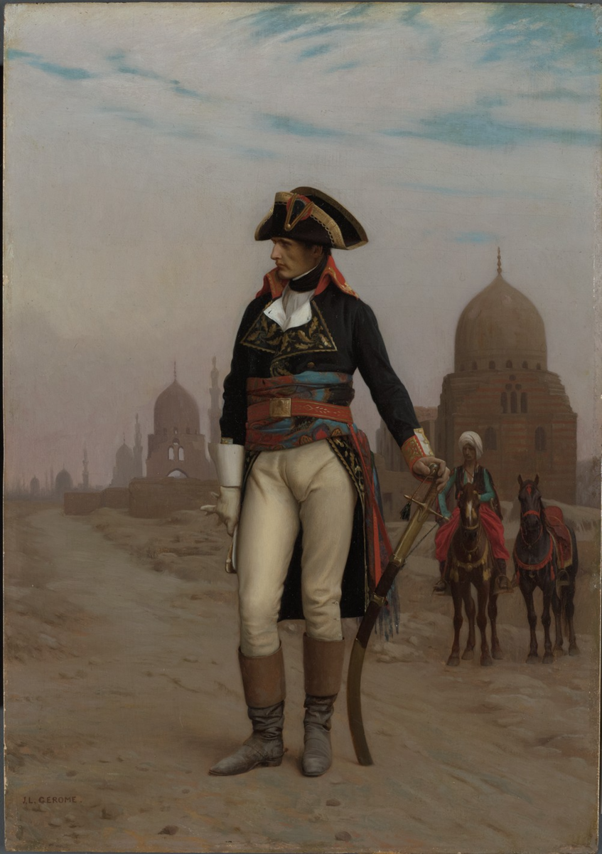 Jean-Léon Gérôme (French, 1824–1904), Napoleon in Egypt, 1867–68. Oil on wood panel. Museum purchase, John Maclean Magie, Class of 1892, and Gertrude Magie Fund