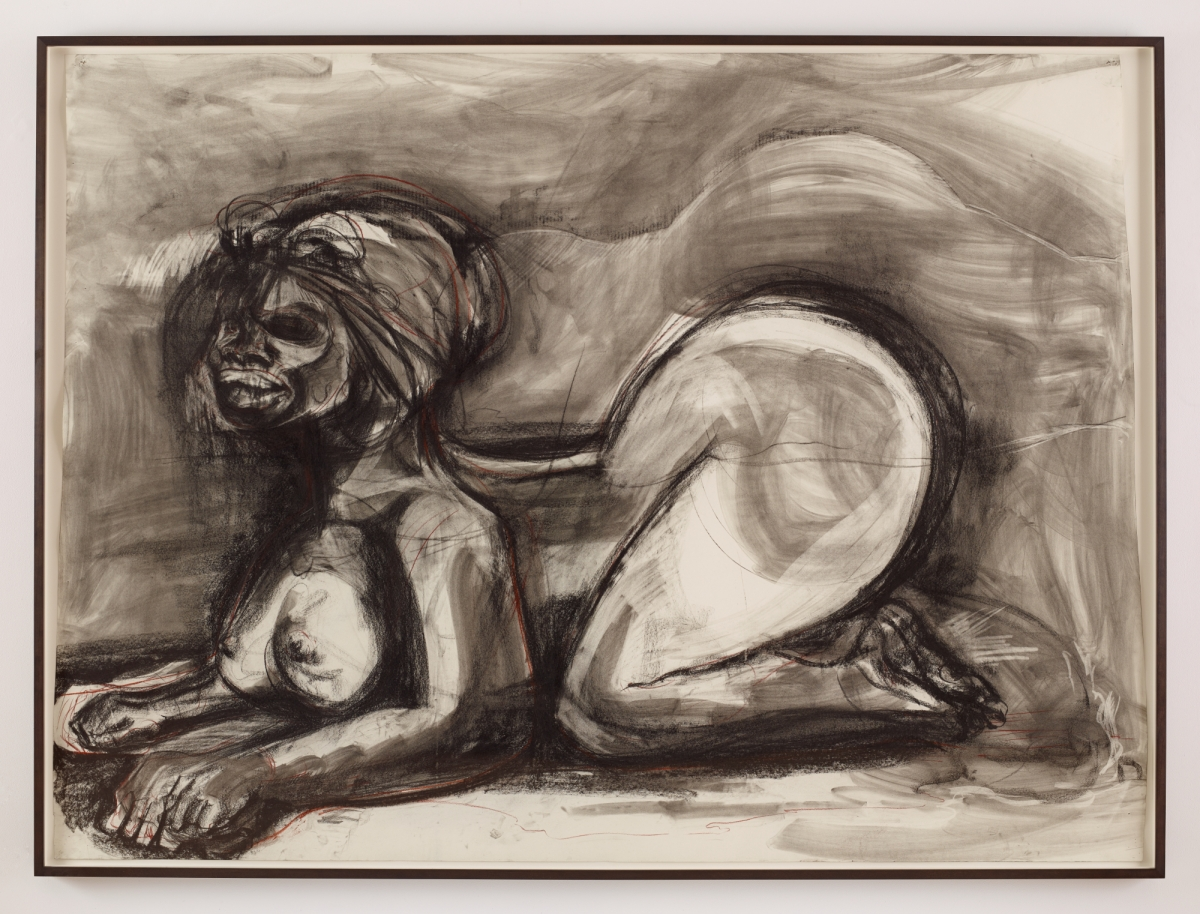 Kara Walker (American, born 1969), Object Lesson in Empire Building, 2014. Graphite and charcoal on paper, 183.5 x 240.7 cm. Nancy A. Nasher and David J. Haemisegger Collection. © Kara Walker / image courtesy of the artist and Sikkema Jenkins & Co., New York, NY