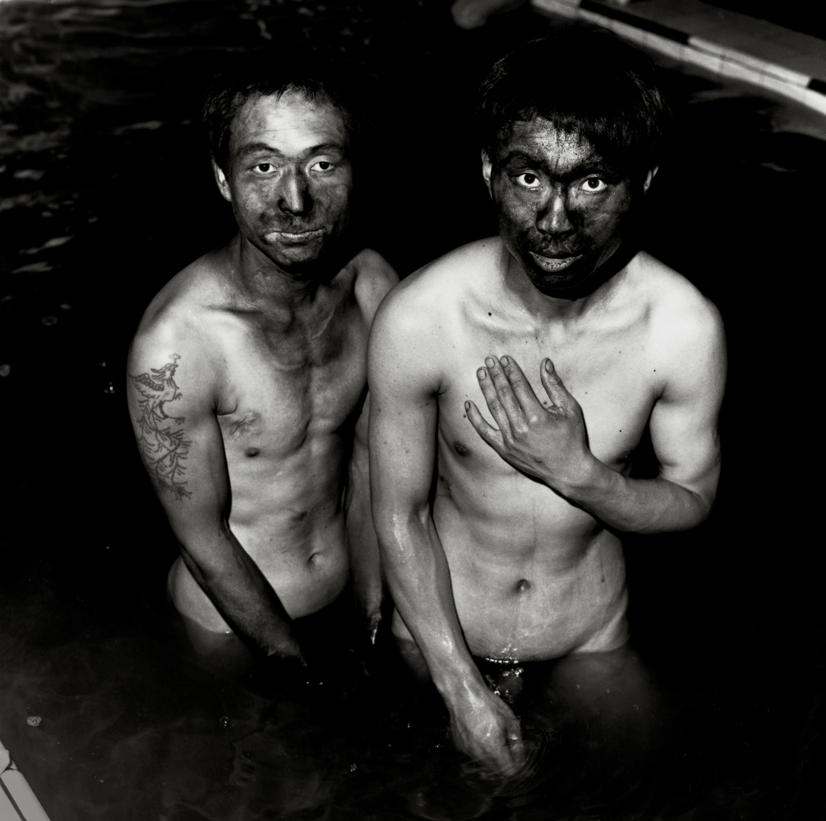 Liu Zheng (Chinese, born 1969), Two Miners, Datong, Shanxi Province, 1996, from the series The Chinese, 1994–2002. Gelatin silver print, 45.7 × 45.7 cm. Collection of Christopher E. Olofson, Class of 1992. © Liu Zheng, Courtesy Yossi Milo Gallery, New York