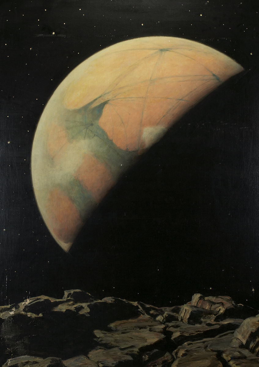 Howard Russell Butler, Mars as Seen from Deimos. Oil on canvas, 125.5 x 99.7 cm. Princeton University, gift of H. Russell Butler Jr.