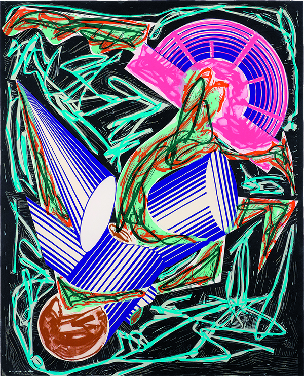 Frank Stella (American, born 1936), Had Gadya: Front Cover, 1984. Hand-coloring and hand-cut collage with lithograph, linocut, and screenprint, 108 × 86 cm. Collection of Preston H. Haskell, Class of 1960. © 2018 Frank Stella / Artists Rights Society (ARS), New York