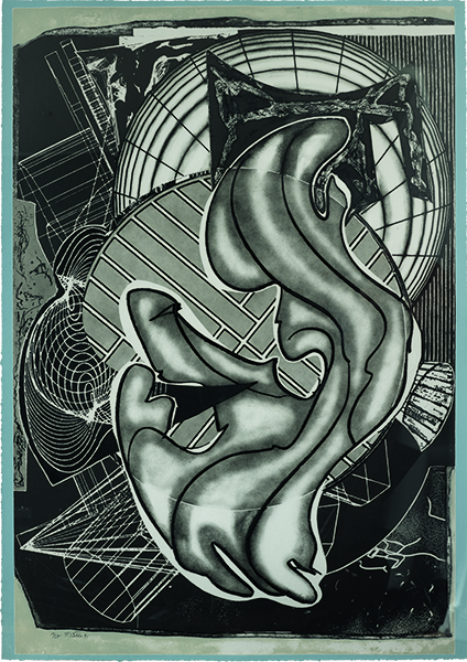 Frank Stella, Despairia, 1995, from the series Imaginary Places. Screenprint, aquatint, etching, relief, lithograph, engraving, and mezzotint on handmade paper, 50.8 × 132.1 cm. Collection of Preston H. Haskell, Class of 1960. © 2018 Frank Stella / Artists Rights Society (ARS), New York