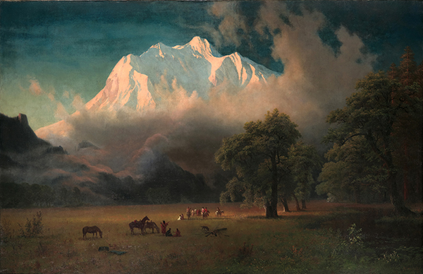 Albert Bierstadt, American, 1830–1902, Mount Adams, Washington, 1875. Oil on canvas. Gift of Mrs. Jacob N. Beam.