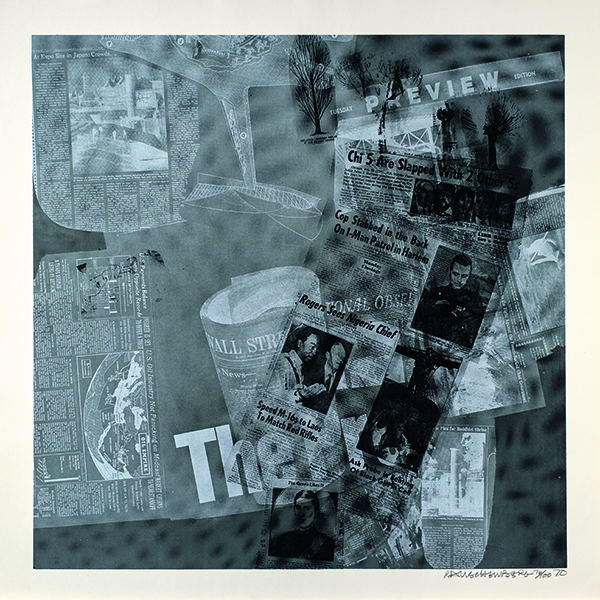 Robert Rauschenberg (American, 1925–2008), No. 43, Surface Series from Currents, 1970. Screenprint, Princeton University Art Museum. Gift of Arthur A. Goldberg. Art © Robert Rauschenberg Foundation / Licensed by VAGA at Artists Rights Society (ARS), NY
