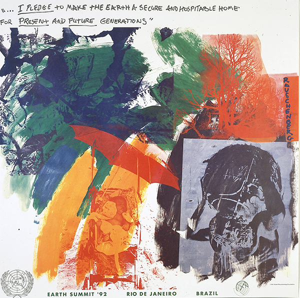 Robert Rauschenberg, American, 1925–2008, Last Turn—Your Turn [print for Earth Summit '92], 1991. Offset lithograph. [Robert Rauschenburg Foundation]. © Robert Rauschenberg Foundation.