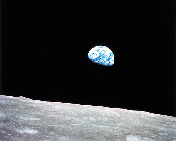 Earthrise, 1968. Courtesy of NASA