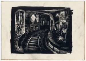 Hudson Tube Station (Sketchbook), 1940s