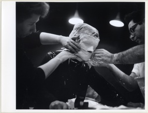 Untitled (Casting Session), black and white photograph, 1975